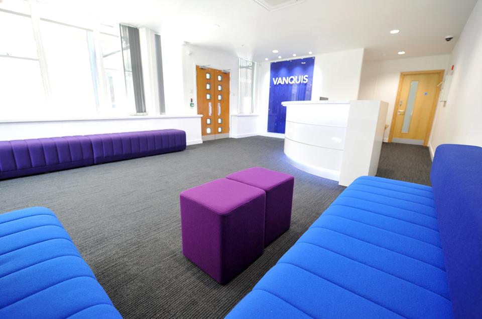 reception area seating refurb in Nottingham