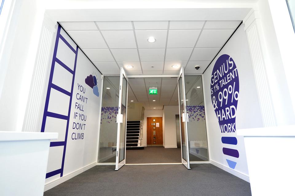 entrance way and reception area design
