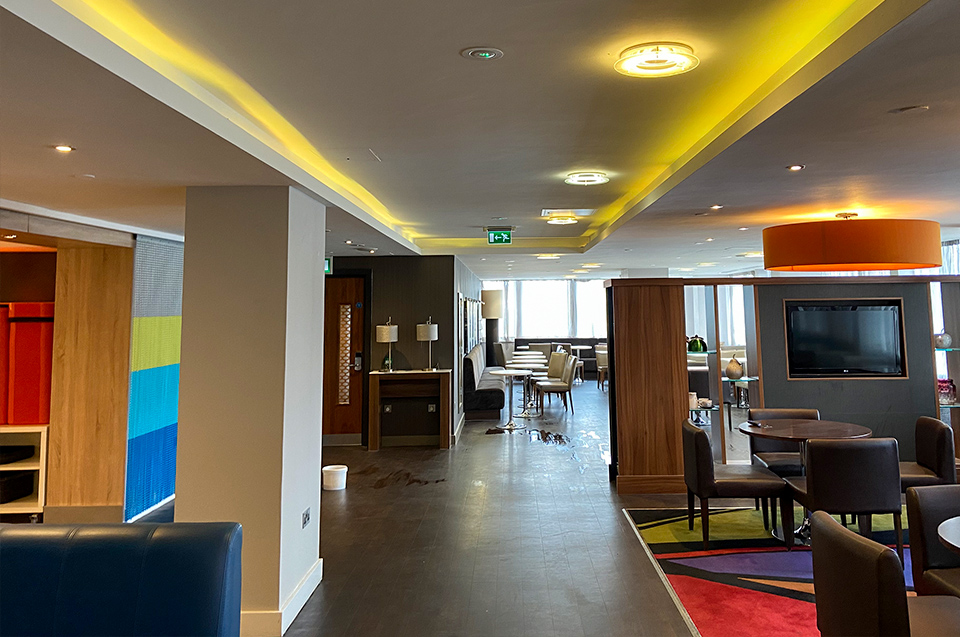 dining area fit out at Hilton hotel