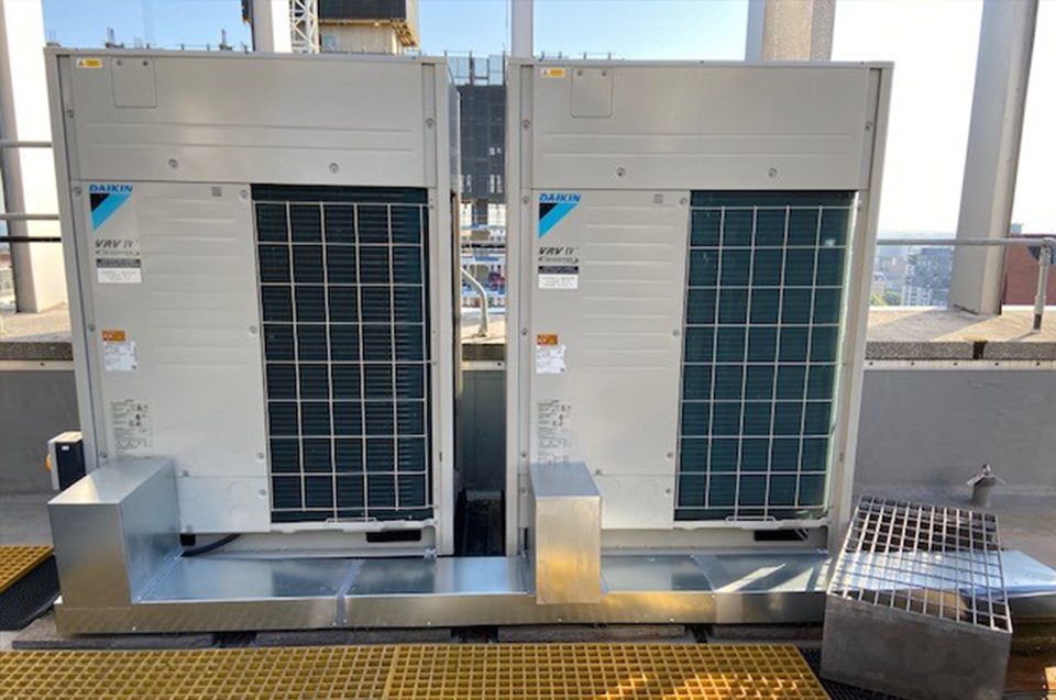 daikin air con units on roof