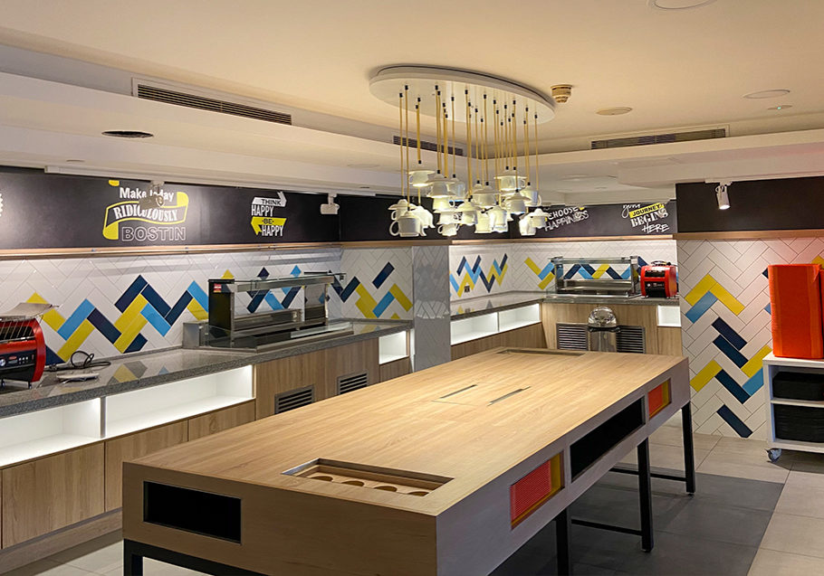hotel buffet area fit out in nottingham